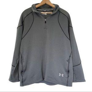 Under Armour Gray Pullover Sweatshirt Quarter Zip